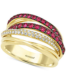Final Call by EFFY® Ruby (3/4 ct. t.w.) & Diamond (1/5 ct. t.w.) Ring in 14k Gold