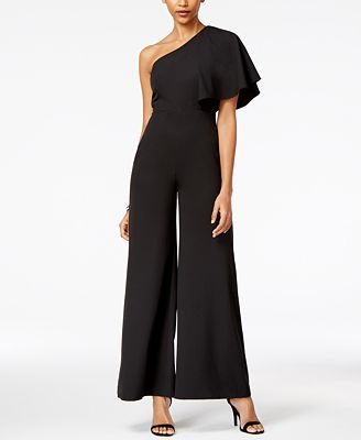 XOXO Juniors' One-Shoulder Jumpsuit