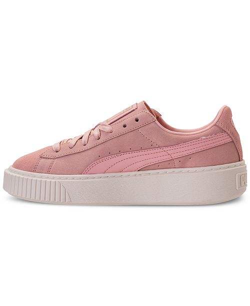 931978cfc8ee Puma Women s Suede Platform Core Casual Sneakers from Finish Line ...