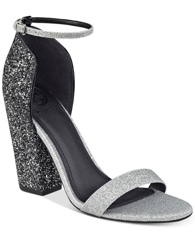 GUESS Women's BamBam Block-Heel Dress Sandals