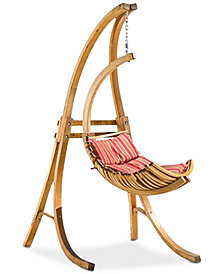 Oberin Wood Swing Chair and Base, Quick Ship