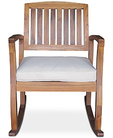 Tennon Rocking Chair with Cushions & Accent Table (Set of 2), Quick Ship