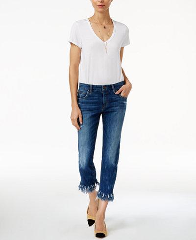 Joe's Ex Lover Frayed Boyfriend Jeans - Jeans - Women - Macy's