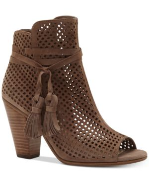 Vince Camuto Kamey Perforated Booties Women