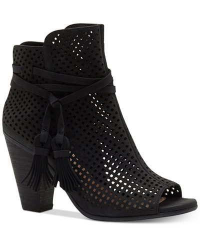 Vince Camuto Kamey Perforated Booties - Boots - Shoes - Macy\'s