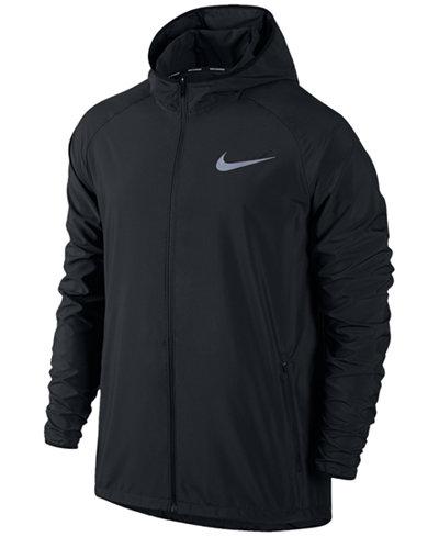 Nike Men's Essential Hooded Water-Resistant Running Jacket - Coats ...