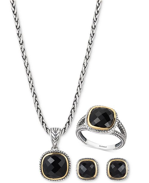 EFFY Collection Eclipse by EFFY® Onyx Jewelry Collection in Sterling Silver & 18k Gold