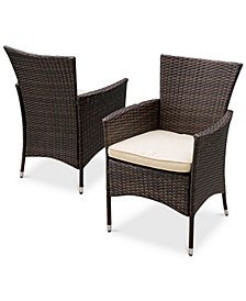 Chiese Wicker Dining Chairs (Set of 2), Quick Ship