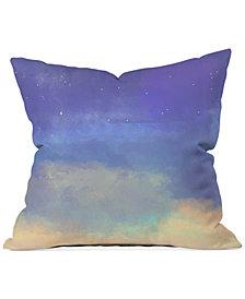"""Deny Designs Joy Laforme Bonne Nuit Blue 16"""" Square Decorative Pillow"""