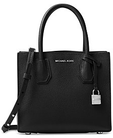 MICHAEL Michael Kors Mercer Medium Bonded-Leather Crossbody