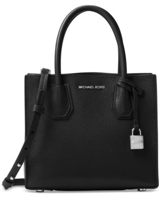 MICHAEL Michael Kors Studio Mercer Medium Bonded-Leather Messenger