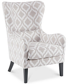 Arianna Swoop Wing Chair, Quick Ship