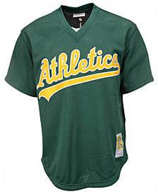 Mitchell & Ness Men's Rickey Henderson Oakland Athletics Authentic Mesh Batting Practice V-Neck Jersey