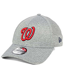 New Era Washington Nationals Heathered Perf Patch 39THIRTY Cap
