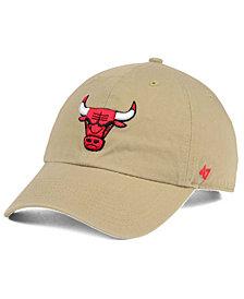'47 Brand Chicago Bulls Khaki CLEAN UP Cap