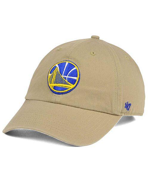 '47 Brand Golden State Warriors Khaki CLEAN UP Cap