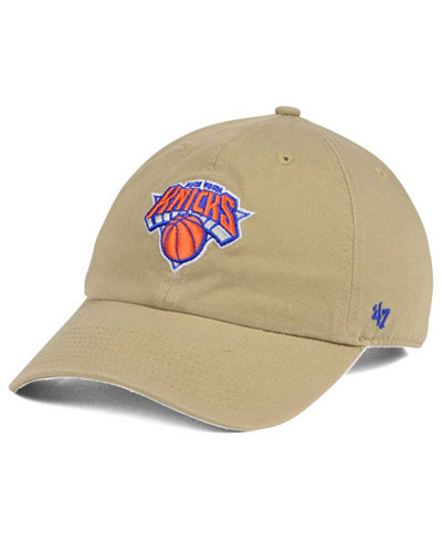 '47 Brand New York Knicks Khaki CLEAN UP Cap