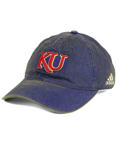 adidas Kansas Jayhawks Over Dye Slouch Cap