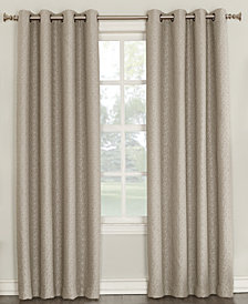 "Sun Zero Tullis Puckered 52"" x 95"" Blackout Lined Grommet Curtain Panel"