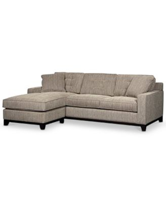 Clarke Fabric 2 Pc Sectional Sofa With Chaise, Created For Macyu0027s