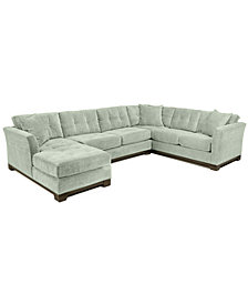 Elliot Fabric Microfiber 3 Piece Chaise Sectional Sofa   Custom Colors,  Created For Macyu0027s