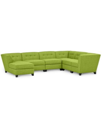 Harper Fabric 6 Piece Modular Sectional Sofa with Chaise - Custom Colors Created for Macyu0027s  sc 1 st  Macyu0027s : green sectional sofa - Sectionals, Sofas & Couches