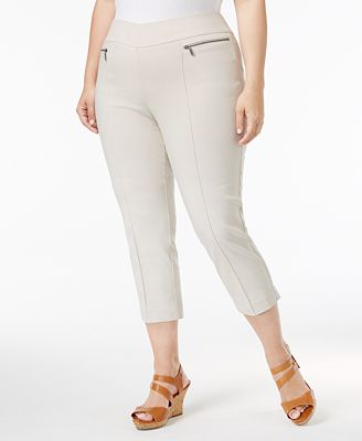 Style & Co Plus Size Pull-On Capri Pants, Only at Macy's - Pants ...