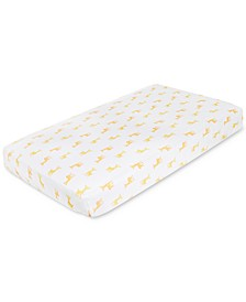 Baby Boys & Girls Giraffe-Print Cotton Crib Sheet
