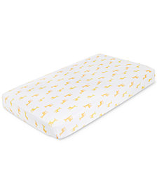 aden by aden + anais Giraffe-Print Cotton Crib Sheet, Baby Boys & Girls