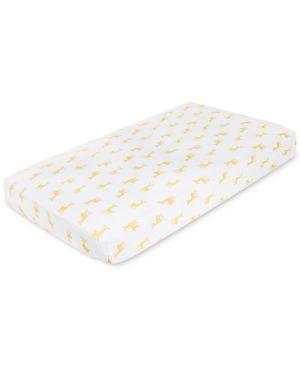 aden by aden + anais Giraffe-Print Cotton Crib Sheet, Baby Boys & Girls 4675258