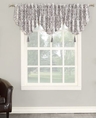 """Rosalie 52"""" x 24"""" Floral Blackout Lined Tab Top Curtain Valance"""