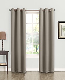 Sun Zero Tabbey Room Darkening Grommet 40 X 95 Curtain Panel