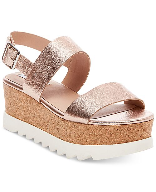 d9f2b1615692 Steve Madden Women s Krista Flatform Sandals   Reviews - Sandals ...