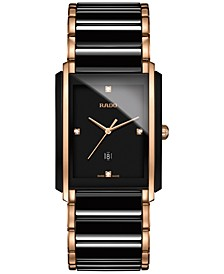Men's Swiss Integral Diamond Accent Two-Tone Stainless Steel and Ceramic Bracelet Watch 31x41mm R20207712