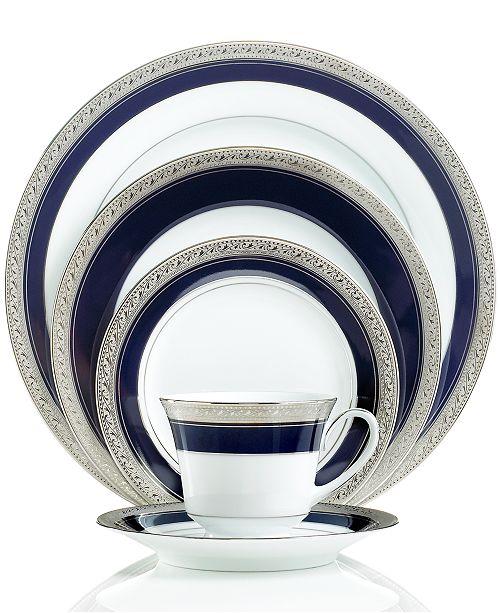 Noritake CLOSEOUT! Dinnerware, Crestwood Cobalt Platinum Collection