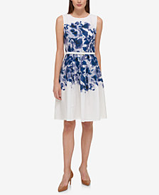 Tommy Hilfiger Floral-Printed A-Line Dress