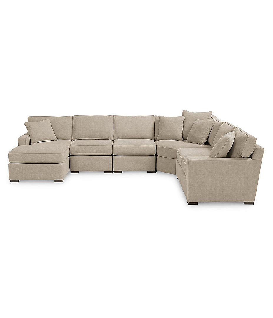 Furniture radley fabric 6 piece chaise sectional sofa created for macys furniture macys