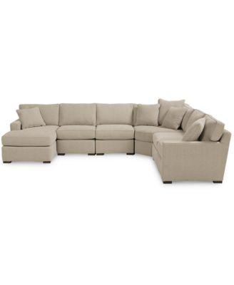 Radley Fabric 6 Piece Chaise Sectional Sofa, Created For Macyu0027s