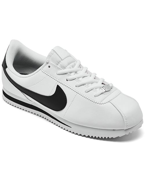 best service 26a53 a5ea3 ... Nike Big Boys  Cortez Basic SL Casual Sneakers from Finish ...
