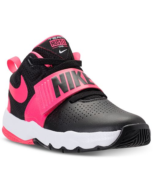 27d5b7aaa11 Nike Little Boys  Team Hustle D8 Basketball Sneakers from Finish Line ...