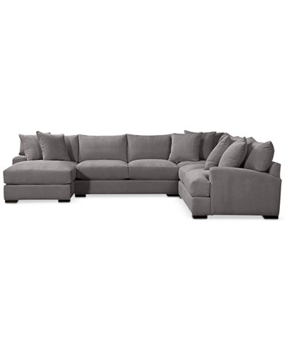 radley 5piece fabric chaise sectional sofa custom colors cre
