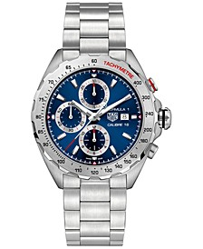 Men's Swiss Automatic/Chronograph Formula 1 Calibre 16 Stainless Steel Bracelet Watch 44mm