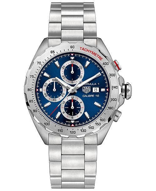 TAG Heuer Men's Swiss Automatic/Chronograph Formula 1 Calibre 16 Stainless Steel Bracelet Watch 44mm