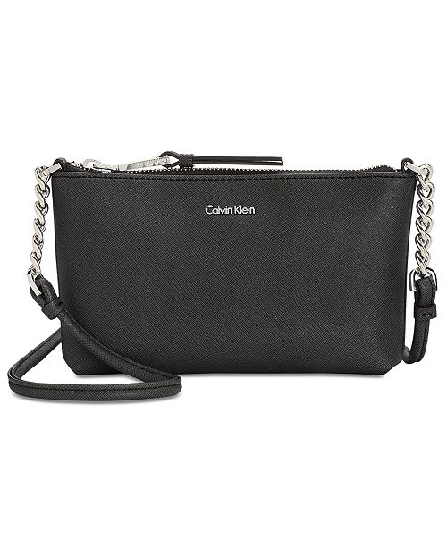 ce316336ad2 Calvin Klein Hayden Saffiano Leather Chain Crossbody & Reviews ...