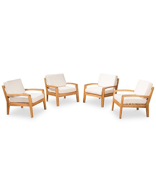 Noble House Caylen Club Chairs (Set Of 4)