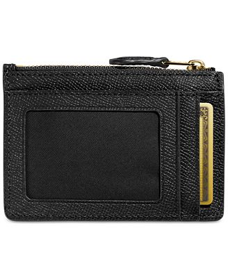Coach Mini Skinny Id Case In Crossgrain Leather Handbags