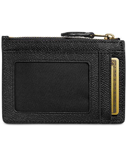 9129b3895c COACH Mini Skinny ID Case in Crossgrain Leather   Reviews - Handbags ...
