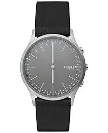 Skagen Men's Jorn Black Leather Strap Hybrid Smart Watch 41mm