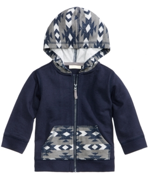 First Impressions GeoPrint ZipUp Hoodie Baby Boys (024 months) Created for Macys