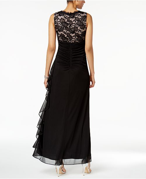 amp; Ruched Nude Betsy Adam by Lace Adam amp;A Black Betsy and Gown B BS4dnq